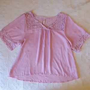 Pink Flowy Blouse